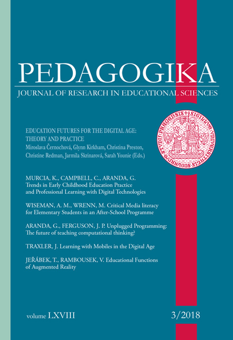 Náhled Vol 68 No 3 (2018): Education Futures for the Digital Age: Theory and Practice