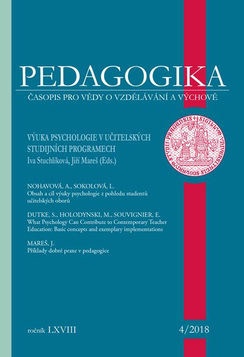 Náhled Vol 68 No 4 (2018): Výuka psychologie v učitelských studijních programech