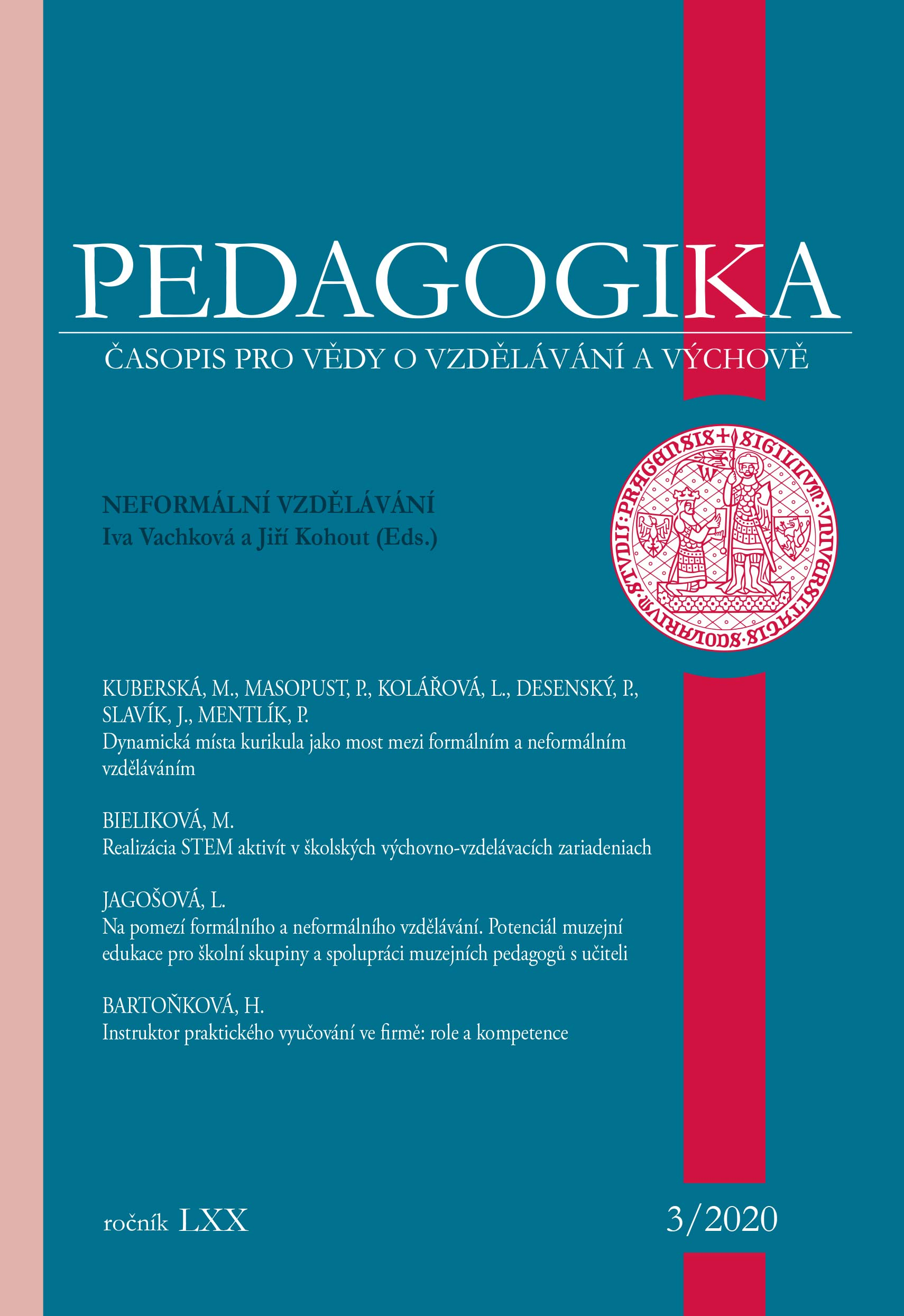 Náhled Vol 70 No 3 (2020): Neformální vzdělávání