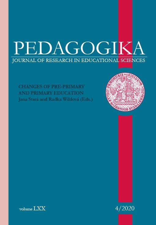 Náhled Vol 70 No 4 (2020): Změny v preprimárním a primárním vzdělávání (anglické monotematické číslo)