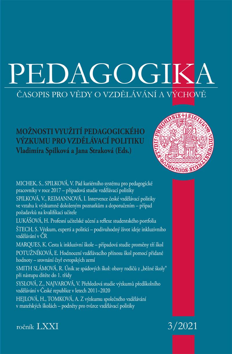 Náhled Vol 71 No 3 (2021): Možnosti využití pedagogického výzkumu pro vzdělávací politiku